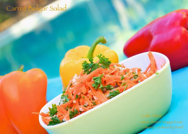 Carrot Bulgar Salad and Grand Finale'