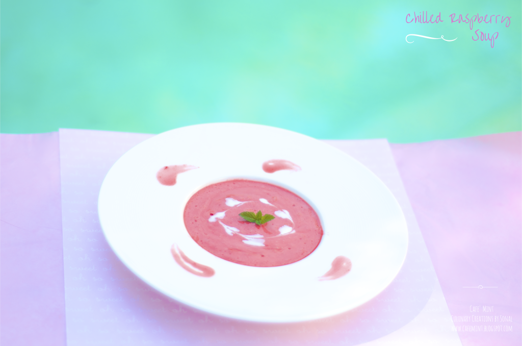 Chilled Raspberry Soup 2.0